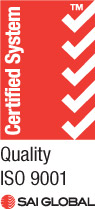 Certified compliant to ISO 9001